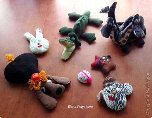 Работая с детьми и я нашила игрушек для своего Алешки... фото 1