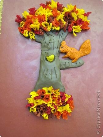 """Осенние деревья Торцевание на пластилине """" ProstoDelkino.com - поделки своими руками."""