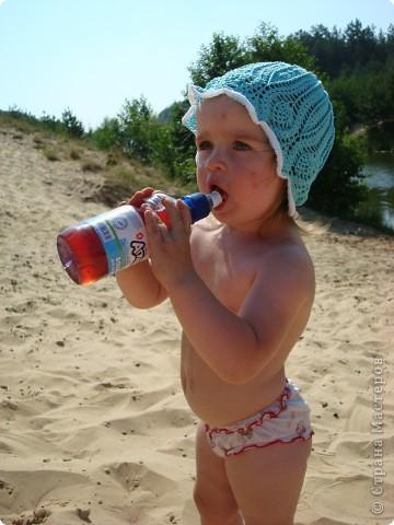 Ещё летние шапочки для дочек фото 5