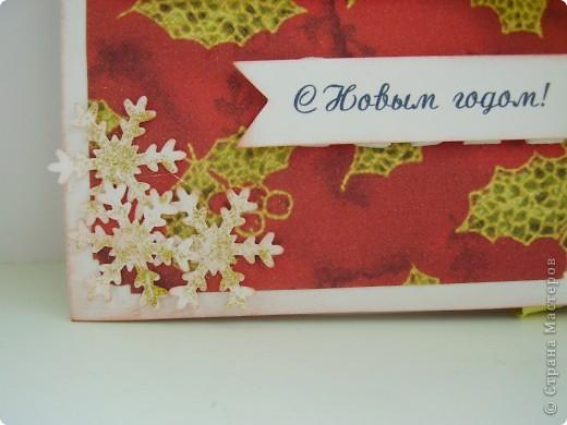 Хотя Новый год еще через 2 месяца, я начала готовиться уже сейчас. Первая партия новогодних открыток. фото 3
