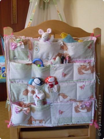 Накладные карманы на детскую кроватку фото 1