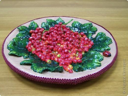 Красная смородинона (Соленое тесто+папье-маше)