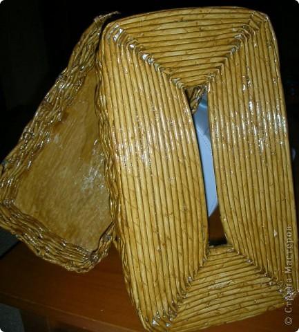 Салфетница №2. Покрашена тонированным лаком! фото 2