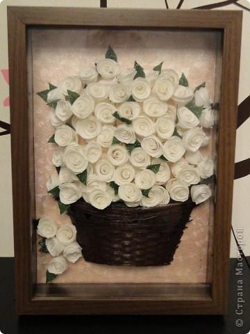корзинка роз фото 1