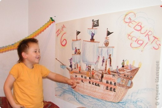 День рождения любимого пирата - декор, газета, стол и мы))) фото 6