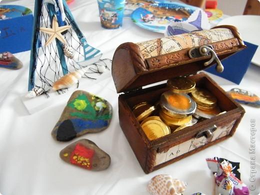День рождения любимого пирата - декор, газета, стол и мы))) фото 17
