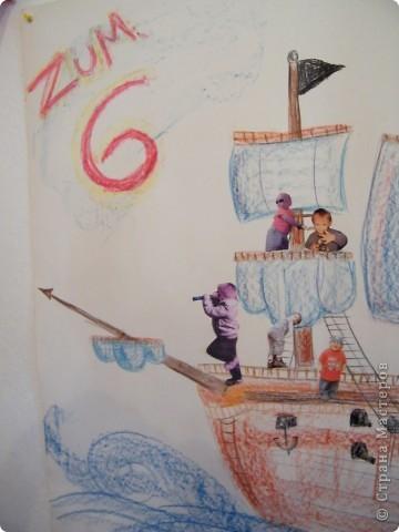 День рождения любимого пирата - декор, газета, стол и мы))) фото 8