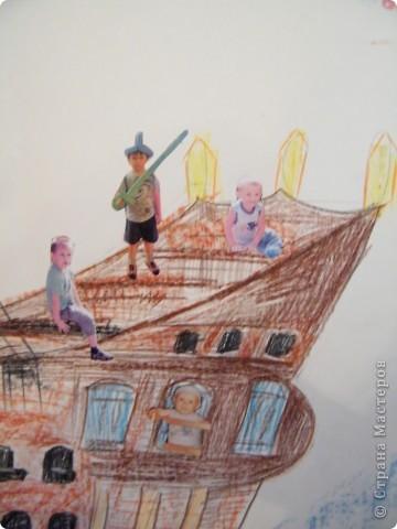 День рождения любимого пирата - декор, газета, стол и мы))) фото 13