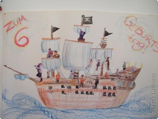 День рождения любимого пирата - декор, газета, стол и мы))) фото 7