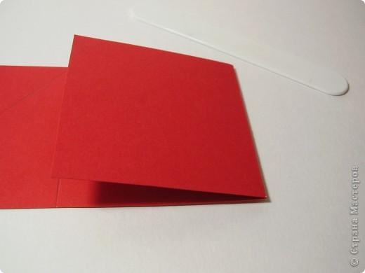 """Новый год с каждым днем все ближе. Хочется порадовать родных и друзей каким-нибудь необычным подарком. Предлагаю сделать открытку необычной формы - """"раскладушку"""". фото 5"""