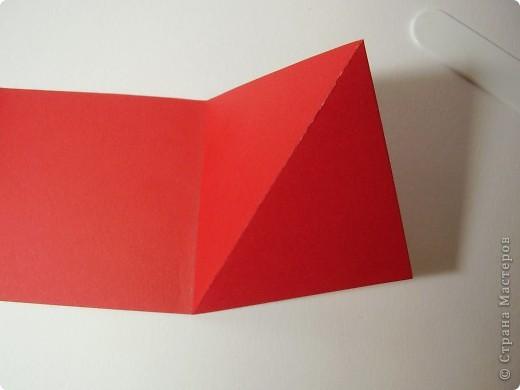 """Новый год с каждым днем все ближе. Хочется порадовать родных и друзей каким-нибудь необычным подарком. Предлагаю сделать открытку необычной формы - """"раскладушку"""". фото 6"""