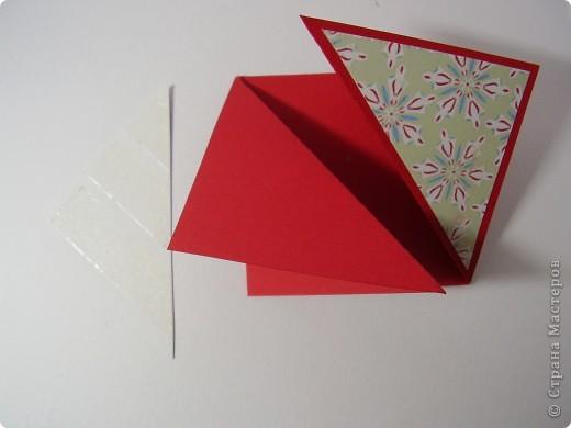 """Новый год с каждым днем все ближе. Хочется порадовать родных и друзей каким-нибудь необычным подарком. Предлагаю сделать открытку необычной формы - """"раскладушку"""". фото 10"""