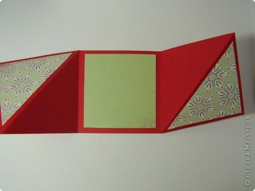 """Новый год с каждым днем все ближе. Хочется порадовать родных и друзей каким-нибудь необычным подарком. Предлагаю сделать открытку необычной формы - """"раскладушку"""". фото 11"""