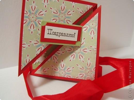 """Новый год с каждым днем все ближе. Хочется порадовать родных и друзей каким-нибудь необычным подарком. Предлагаю сделать открытку необычной формы - """"раскладушку"""". фото 18"""