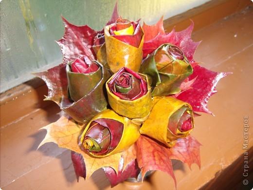 розы из кленовых листьев фото 1