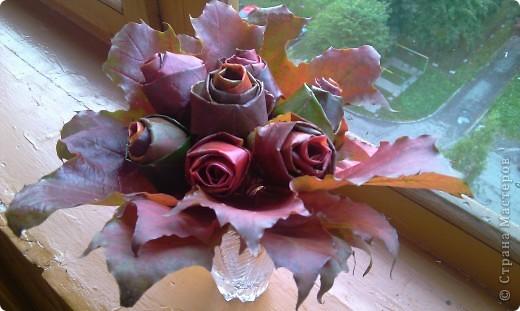 розы из кленовых листьев фото 3