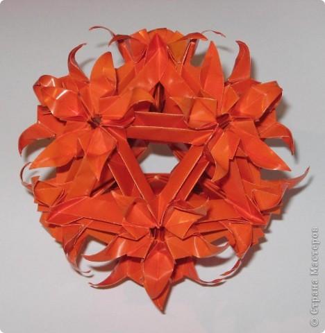 Привет! Впервые показываю свои кусудамы в СМ.  Spides floral, автор:  Екатерина Лукашева фото 2