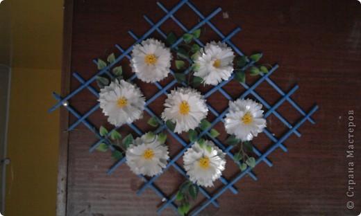 Цветы сделаны из пластиковых стаканов. фото 1