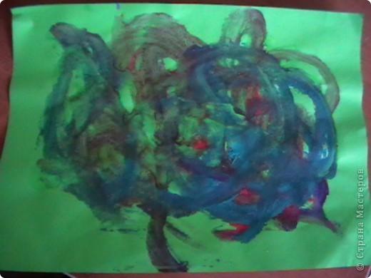 рыбка. Дочь очень любит рыбок и рисует их чаще остальных. фото 4