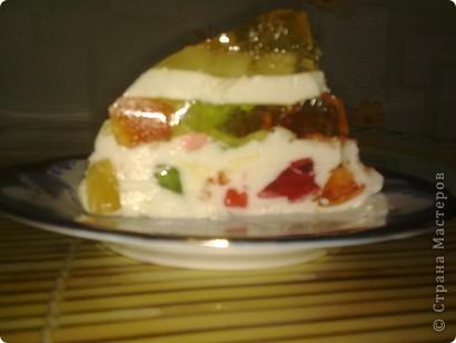 Торт-желе = Битое стекло =  1/2 банки консервированных ананасов  4 пакета разноцветного желе  2 пакета желатина  1 литр сметаны 15-20 %  ванилин  сахар (пудра) 1 стакан фото 9