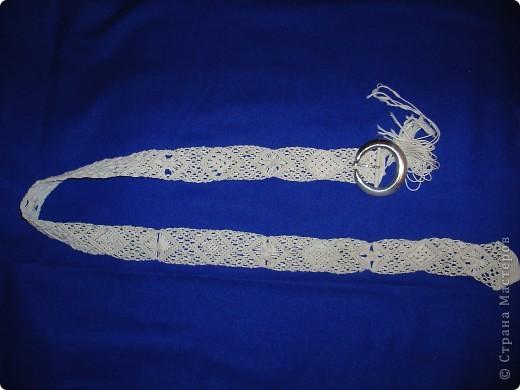 плетеный пояс Нитки фото 1