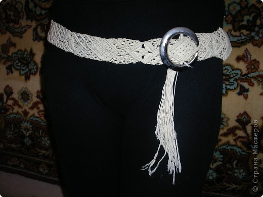 Макраме плетеный пояс