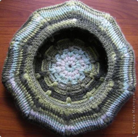 Для вязания берета использовала пряжу - Ангора батик (Angora batik) 50 % мохер 50% акрил. Состав: 50% мохер 50% акрил Вес: 100гр Длина нити в мотке: 440м Потребовалось около 150 г. фото 8