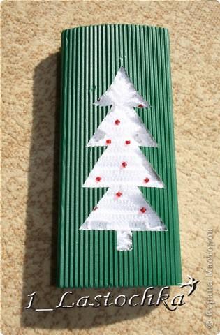 Для новогоднего подарка можно сделать такую подарочную упаковку. фото 1