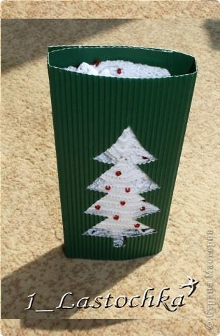 Для новогоднего подарка можно сделать такую подарочную упаковку. фото 5