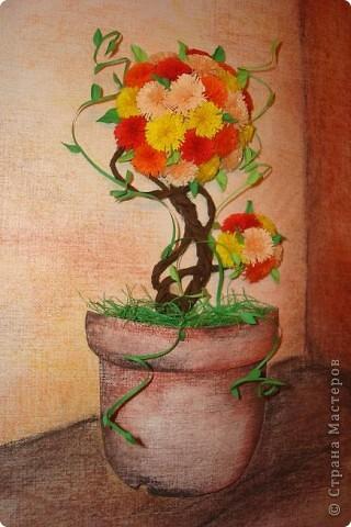 """Уж очень захотелось вырастить """"дерево счастья"""" в горшочке. Рассмотрев все горшочки в Стране,смастерила свой. фото 1"""