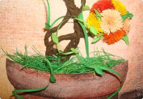 """Уж очень захотелось вырастить """"дерево счастья"""" в горшочке. Рассмотрев все горшочки в Стране,смастерила свой. фото 2"""