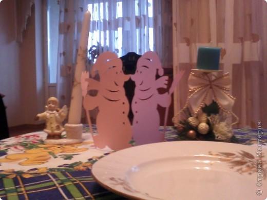 Украшение для новогоднего стола фото 1