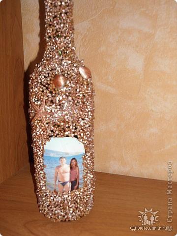 Вот такая бутылочка,одна и первых))в память о море)) фото 1