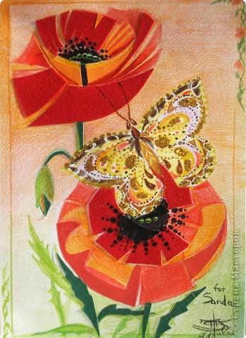 Мы с ребенком увлеклись postcrossing- обменом открытками, посылаемых почтой по всему миру. Вот наша первая открытка для женщины из Америки, ей нравятся открытки ручной работы, а мы любим такие делать, поэтому вперед!!!