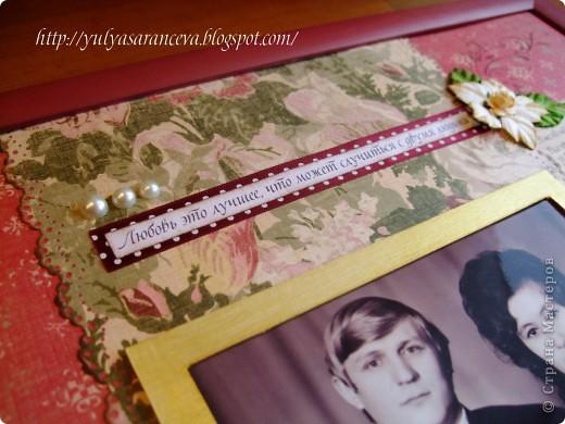 Скрап-портрет сделан на заказ на полотняную свадьбу ( 35 лет)  фото 2