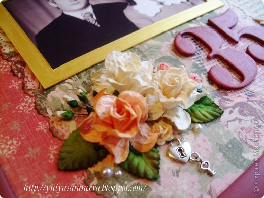 Скрап-портрет сделан на заказ на полотняную свадьбу ( 35 лет)  фото 4