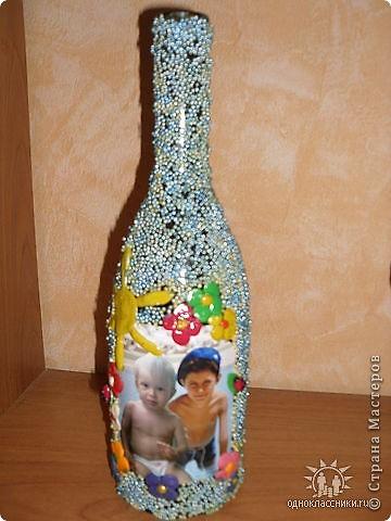 Вот такая бутылочка,одна и первых))в память о море)) фото 2