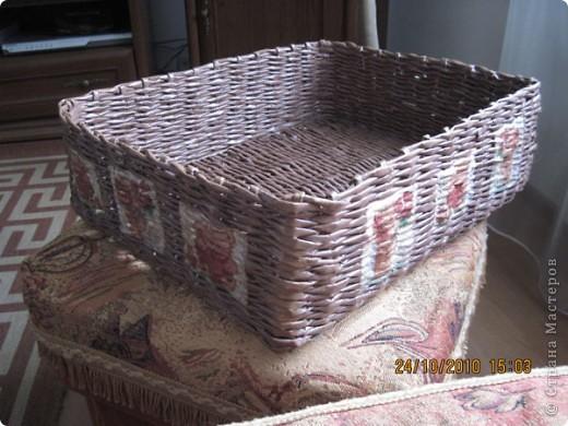 Коробочка для всяких газетоплетно-декупажных поделок. фото 1