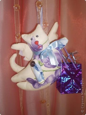 Следующий год кота или кролика. Вот такие коты у меня получились. В пакетик можно положить маленький новогодний подарок. фото 2