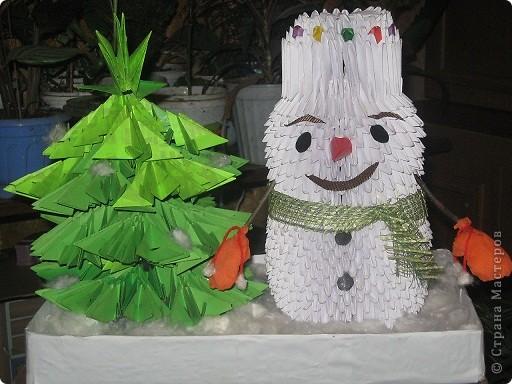 Снеговик под ёлкой