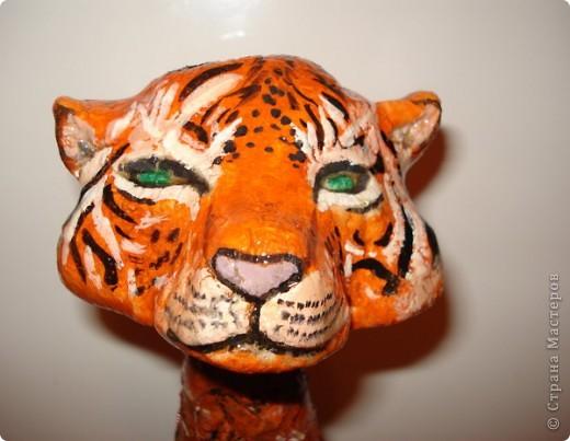 Декорацию полной бутылки  я сделала на прошедший новый год Тигра. Очень приятно и интересно она смотрелась на новогоднем столе.  фото 2