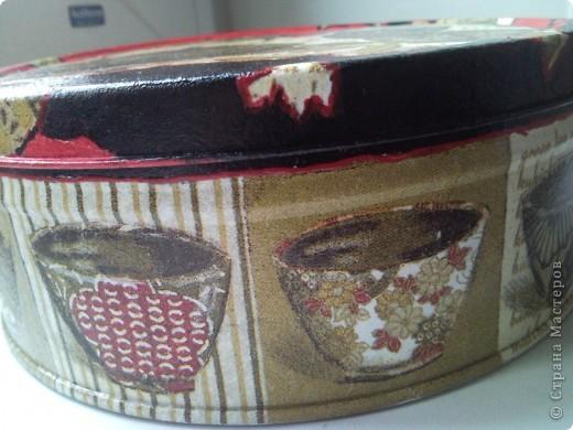 подруга попросила обновить банку для чайных пакетиков...и вот что у меня получилось фото 2