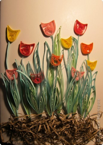 Поделка изделие квиллинг тюльпаны