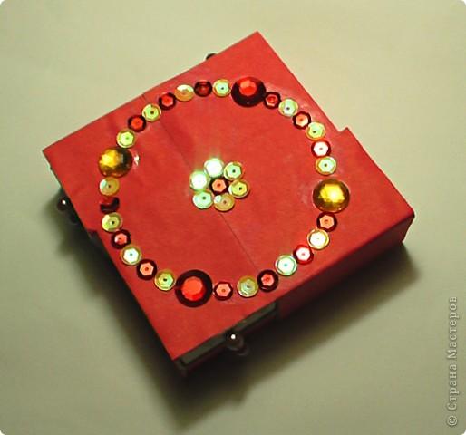 шкатулка из коробков фото 1