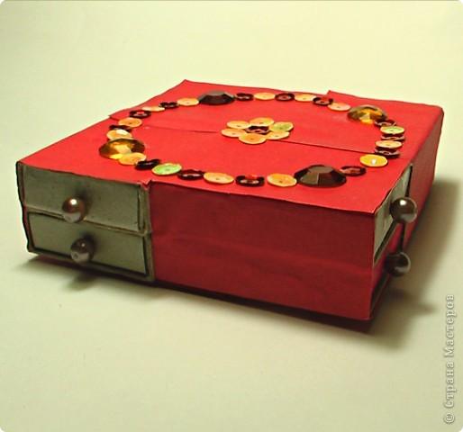 шкатулка из коробков фото 2