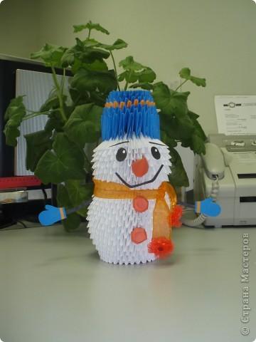 Снеговичок по МК Татьяны Просняковой фото 2