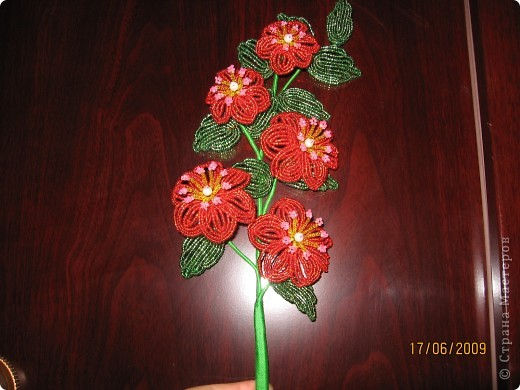 Бисероплетение Цветы Бисер фото 2.