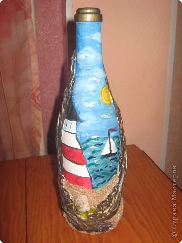 ещё одна бутылка стала украшением фото 1