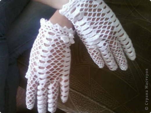 """Перчатки-моя страсть нитки""""Сирень"""" фото 1"""
