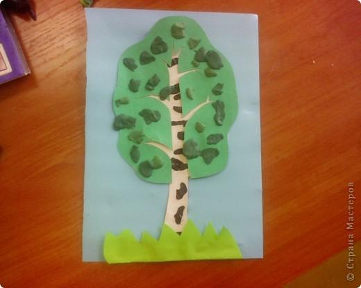 Комплексная работа с крошечками. Тема деревья.